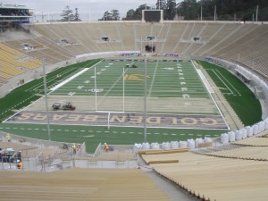 After: Cal's Memorial Stadium near completion
