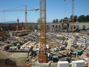 Cal stadium during construction