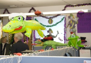 ECAS on the 5th floor created a Mardi Gras Holiday