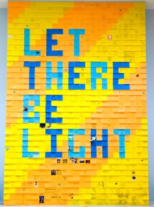 Let There Be Light installation in Franklin lobby
