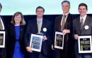 Nathan Brostrom and UC chancellors with awards