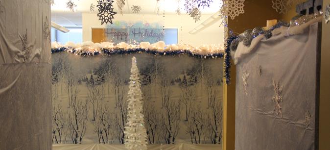 Entrance to Winter Wonderland winning display