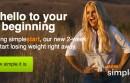 Screen shot from Weight Watchers website