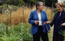 President Napolitano and Alice Waters