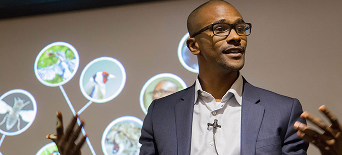 "UCSF neuroscience grad student Sama Ahmed, whose three-minute talk on ""how to know your species"" won first place at the campuswide contest, will compete for the Grad Slam championship in Oakland May 4."