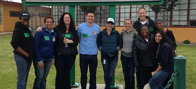UCOP volunteers, left to right: Tracy Richmond-McKnight, Venice Tamplin, Andrea Simpson, Michael Kisgen, Janika McFeely, Erin Marnocha, Robert Judd, Charleen Mininfield, Teresa Jackson, and Kay Coelho