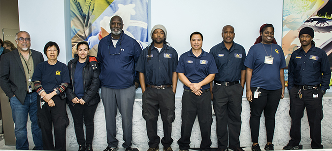 The new custodial staff night crew