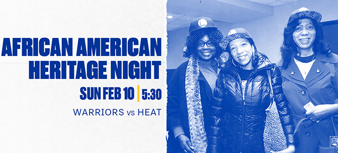 See the Warriors vs. the Heat on Feb. 10, African American Heritage Night