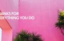 Pink gratitude gram