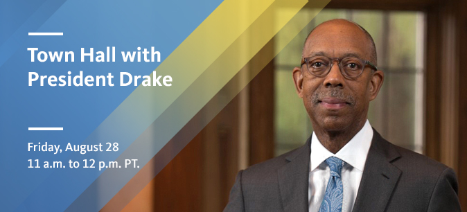 Submit your questions for President Drake's first Town Hall