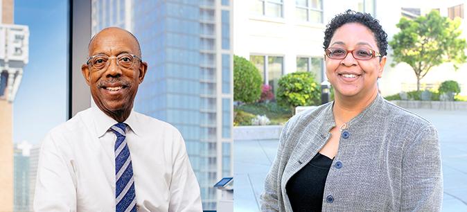 President Drake and Yvette Gullatt