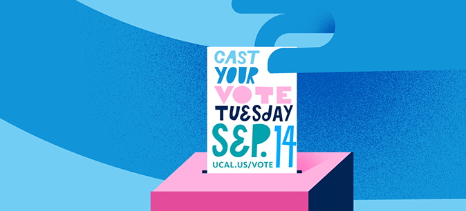 Vote in the Sept. 14 recall election