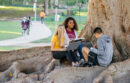 students under tree at UC Irvine